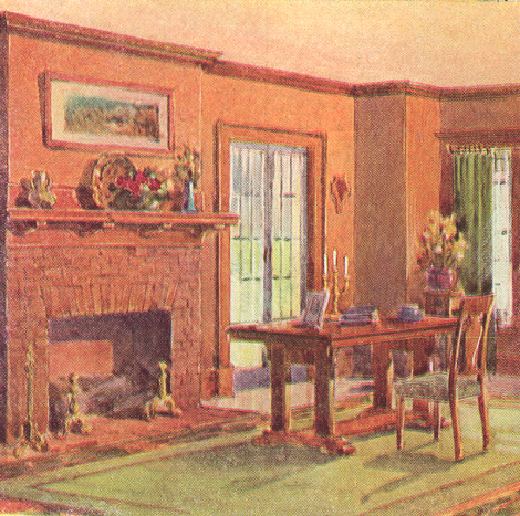Five 1911 Interiors Old House Colors